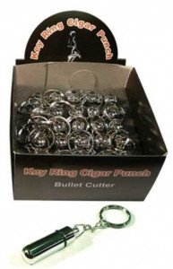 Bullet Cutter Key Chain - Display Box of 24 - (Silver)