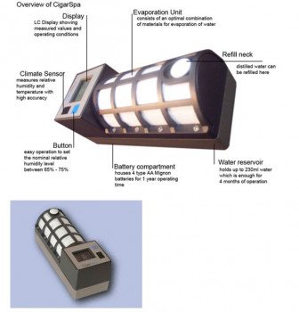 Csonka CigarSpa Fully Automated Humidification System - Champagne
