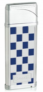 Caseti Alchemy Windproof Flame Coil Lighter Blue Grid Lacquer