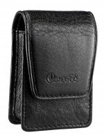 Caseti Americano Soft Black Leather Lighter Case