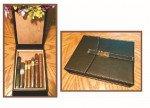 Csonka Cigar Companion Expresso Black Leather Travel Humidor