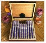 Csonka Executive Cherry Desktop Humidor filled w/ 20 Custom Premium Cigars