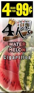 Good Times Cigarillos 4 Kings Watermelon