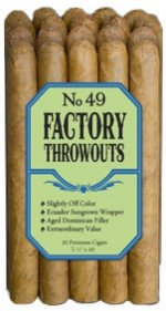 J. C. Newman No. 49 Factory Throwouts